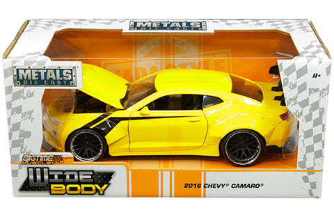 1:24 Metals - Widebody (Bigtime Muscle) - 2016 Chevrolet Camaro (Yellow) 31064