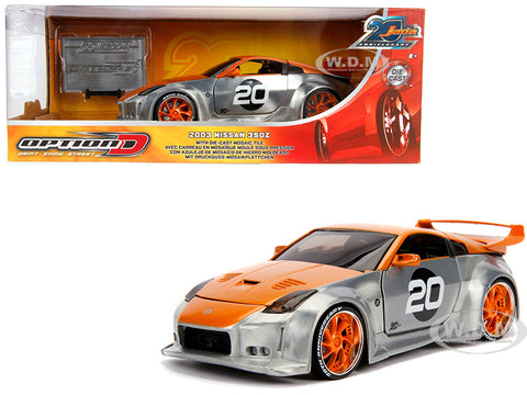 "Jada 1:24 ""Option D"" 2003 350Z 20th Anniversary Diecast Model Car"