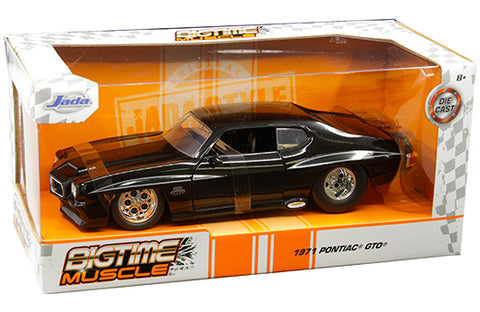 "1:24 Bigtime Muscle - 1971 Pontiac GTO ""The Judge"" (Black) (Made in Vietnam) 31644"