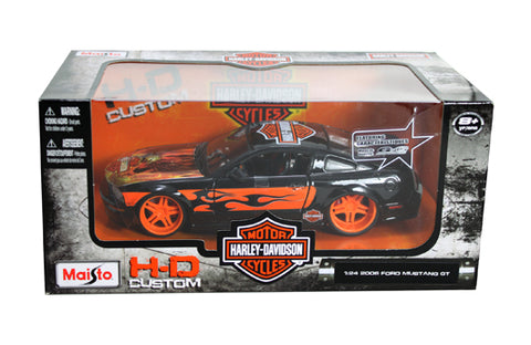1:24 Harley-Davision Custom - 2006 Ford Mustang Eagle Sign (black)