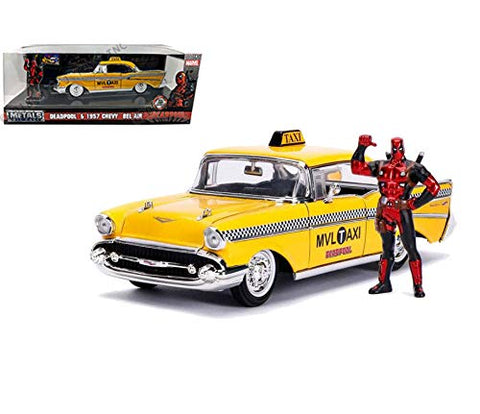 Jada 1:24 Deadpool & 1957 Bel Air Marvel