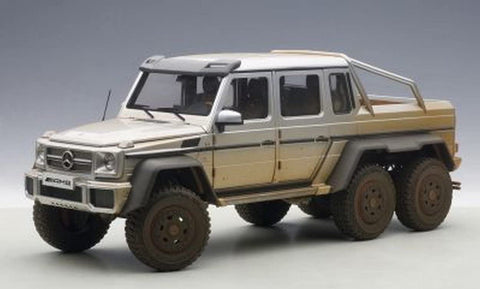1:18 MERCEDES-BENZ G63 AMG 6x6 (SILVER)(MUDDY VERSION)