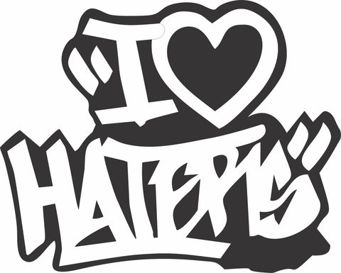 Stickers - I Love Haters