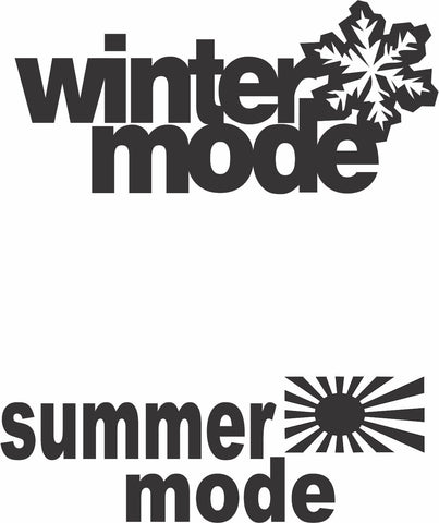 Sticker - Summer Mode, Winter Mode