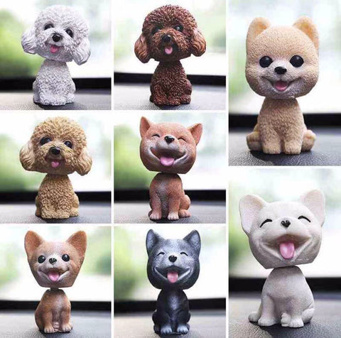 Car Bobblehead Dog Puppy Car Dashboard Decoration