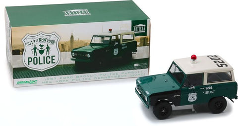 Greenlight 1/18 1967 Ford Bronco - NYPD-autoworld-1