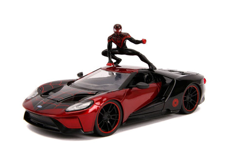 "Jada 1/24 ""Hollywood Rides"" 2017 Ford GT with Miles Morales-autoworld-1"