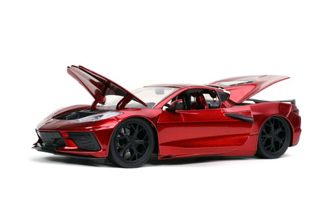"Jada 1/24 ""BIGTIME Muscle"" 2020 Corvette Stingray - Candy Red 32538"
