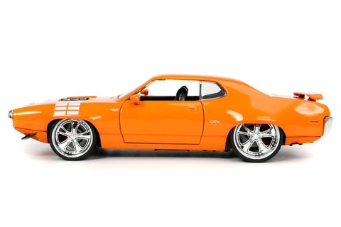 "Jada 1/24 ""BIGTIME Muscle"" 1972 Plymouth GTX - Glossy Orange 32697"