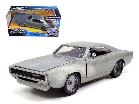 "Jada 1/24 ""Fast & Furious"" 1968 Dodge Charger R/T - Bare Metal 97336"