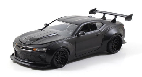 "Jada 1/24 ""BIGTIME Muscle"" 2016 Chevy Camaro SS Wide Body Black-autoworld-1"