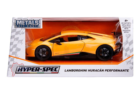 "Jada 1/24 ""Hyper-Spec"" Lamborghini Huracan Performante - Yellow 99707"