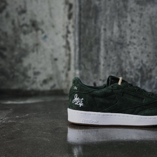 Curren$y Jet Life x Reebok Club C 85 at Nashville's Sneaker Shop ROOTED