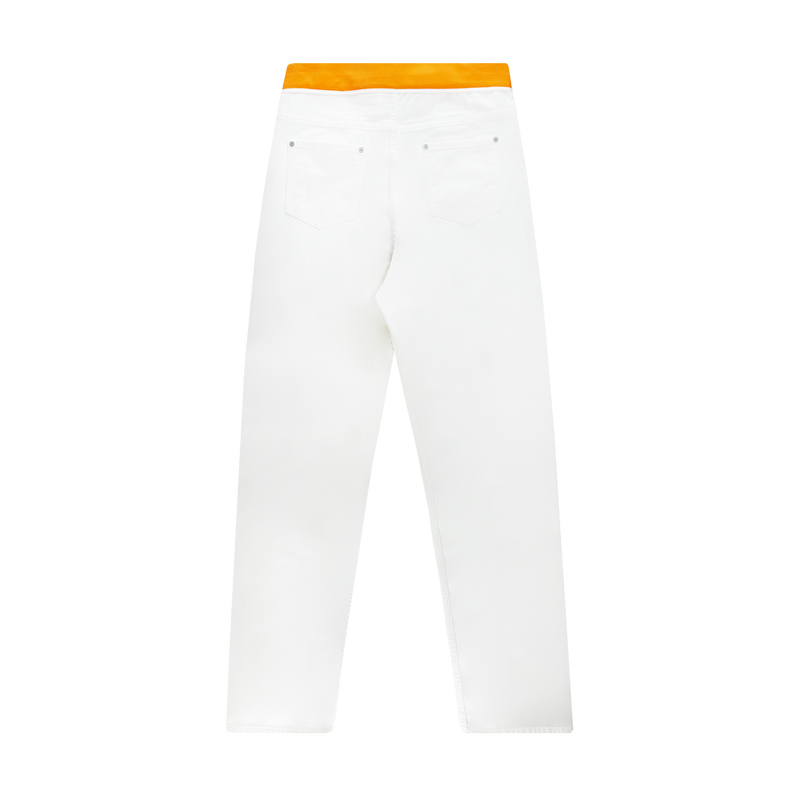 Maison Margiela Spliced Denim Pants 'Off White/Orange'