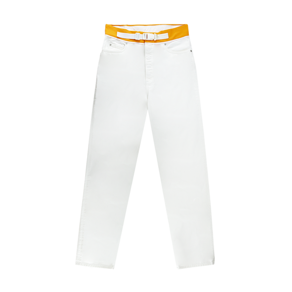 Maison Margiela Spliced Denim Pants [Off White/Orange]