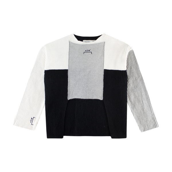 A-COLD-WALL* Multipanel Knit Sweater [Black/Grey/Cream]