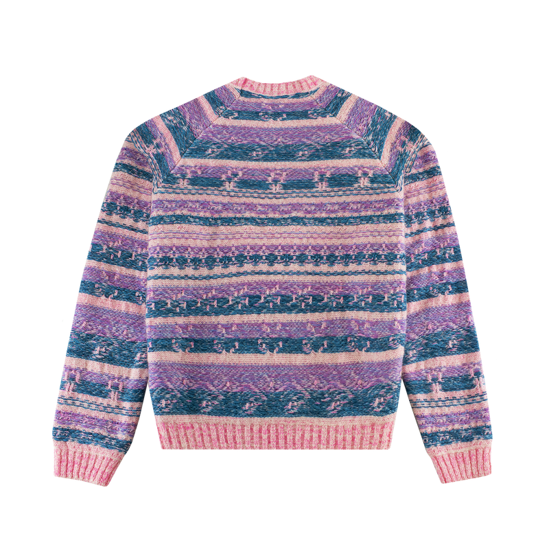 Acne Studios Karlos Striped Knit Sweater [Bright Pink]