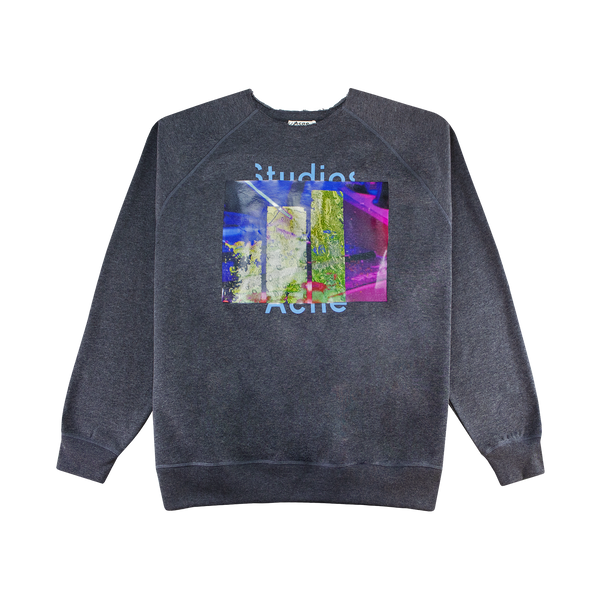 Acne Studios Video Print Sweatshirt [Anthracite Grey]