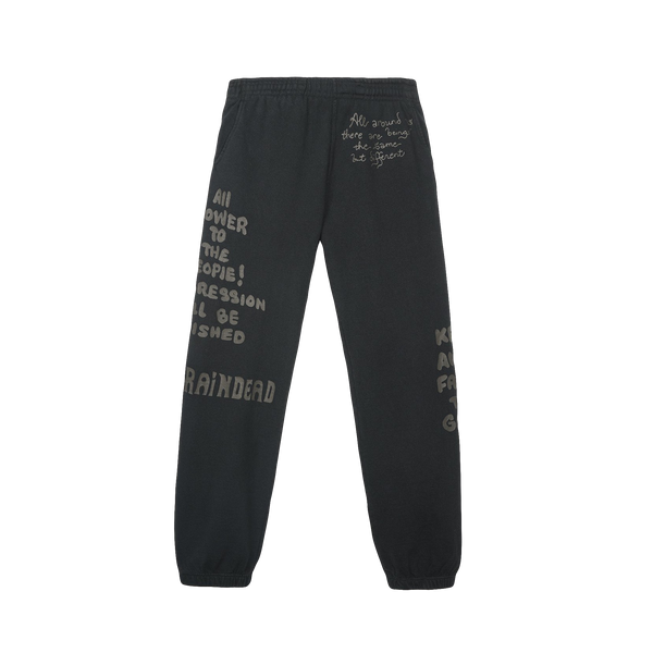 Brain Dead Tonal Type Print Sweatpants [Black]