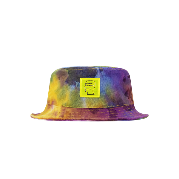 Brain Dead Dyed Canvas Bucket Hat [Tie Dye]
