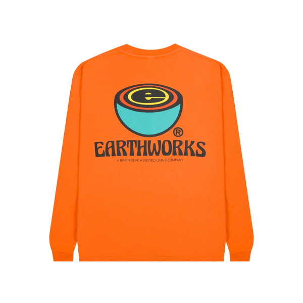 Brain Dead Earthworks L/S Tee 'Orange'