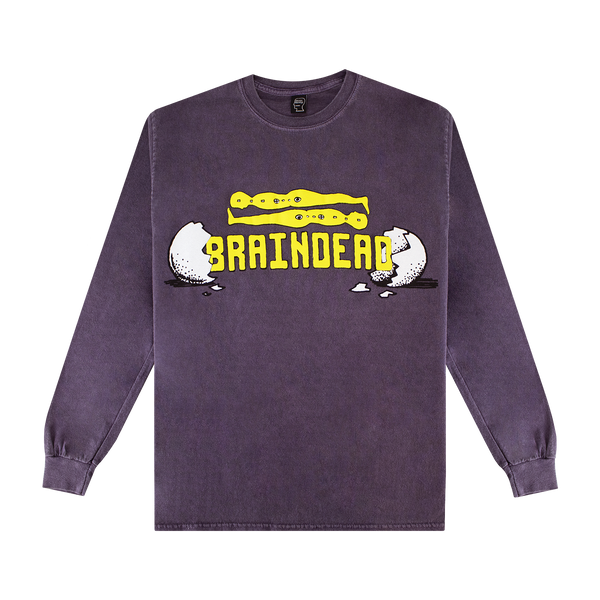 Brain Dead Hatchlings L/S Tee [Berry]