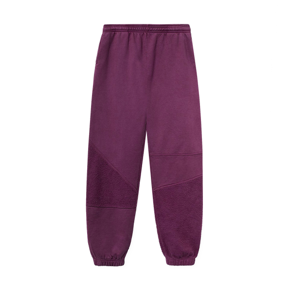 Brain Dead Logo Head Asymmetrical Paneled Sweatpant 'Burgundy'