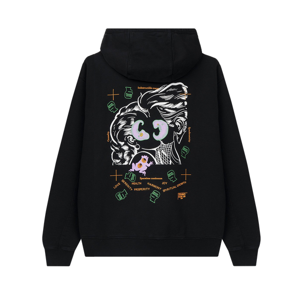 Brain Dead Lover's Embrace Hooded Sweatshirt 'Black'