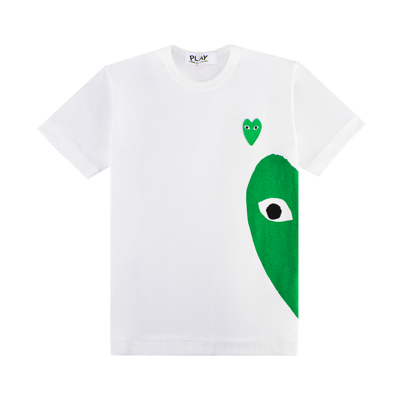 Comme des Garcons PLAY Green Heart T-Shirt [White/Green]