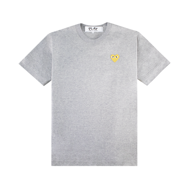 Comme Des Garcons PLAY T-Shirt [Grey/Gold]