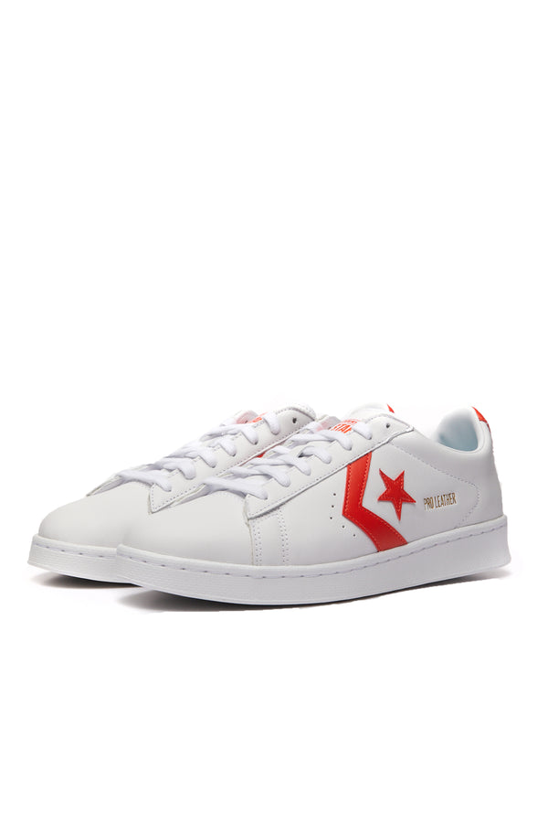 Converse Pro Leather Low 'White/Bright Poppy'