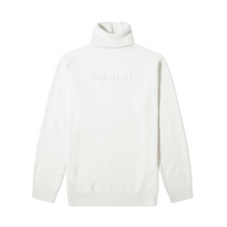AMBUSH Turtle Neck Emboss Knit [White]