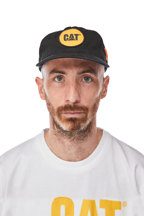 Heron Preston Cat Patch Hat 'Black/Yellow'