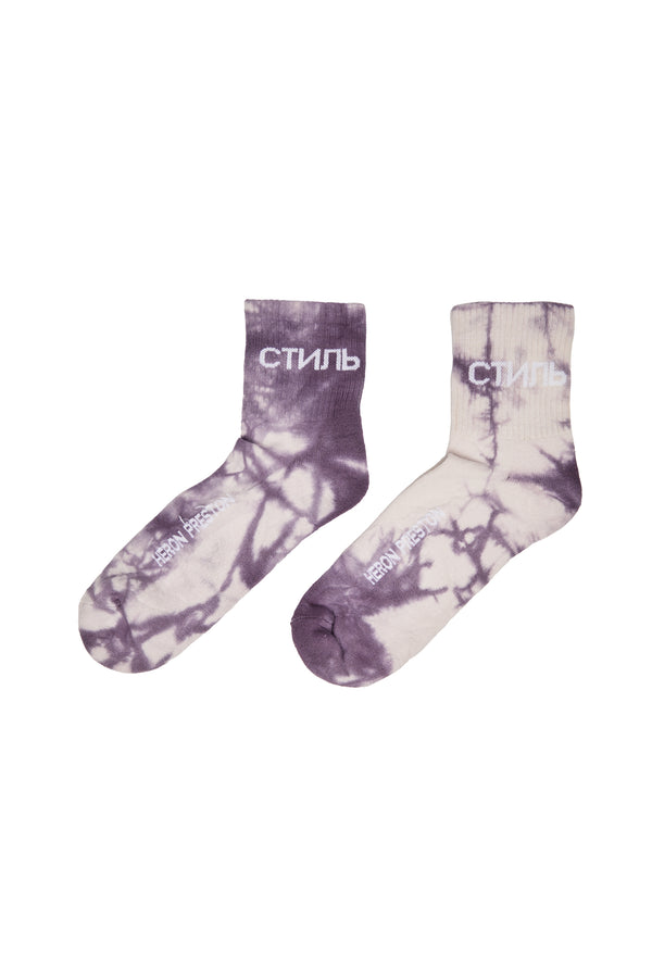 Heron Preston Short Tie-Dye Socks 'Purple'