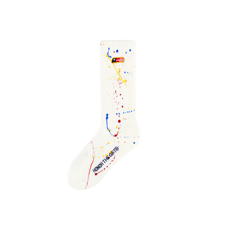 Honor The Gift Painter Socks [White]