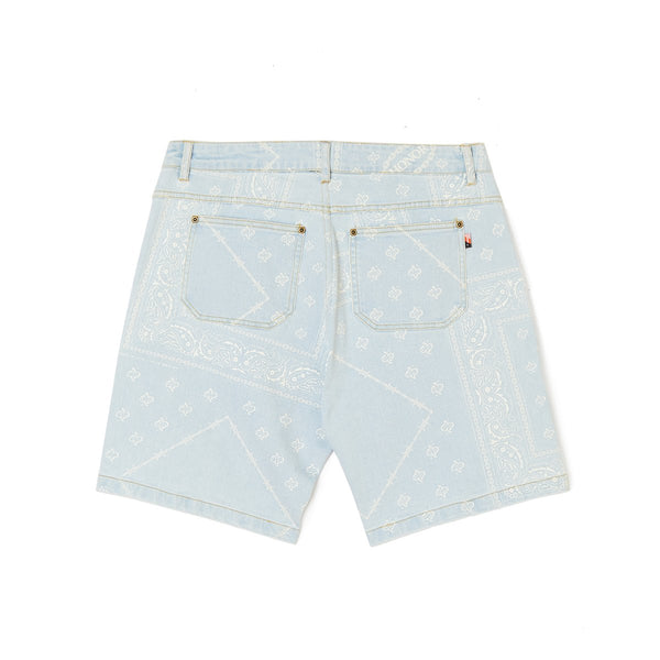 Honor The Gift Bandana Shorts [Light Wash Denim]
