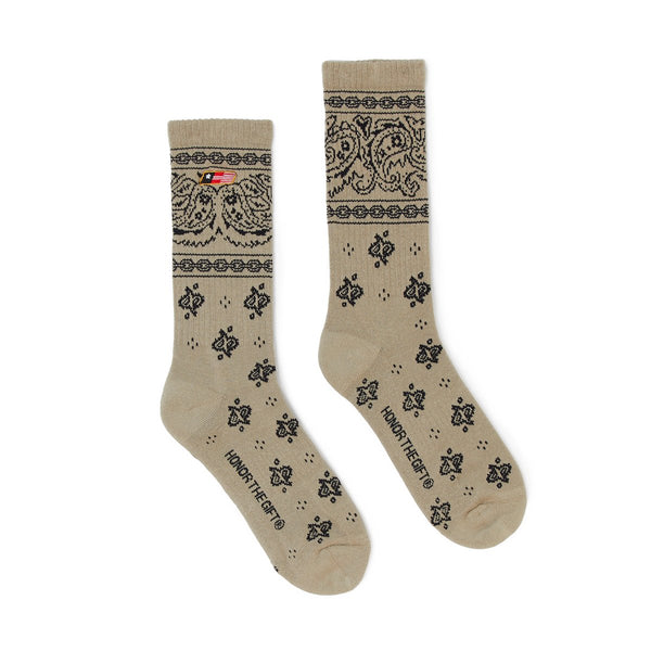 Honor The Gift Bandana Socks [Khaki]