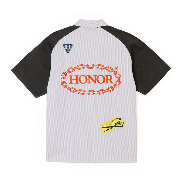 Honor The Gift Mechanic Shirt [Pinstripe/Evergreen]
