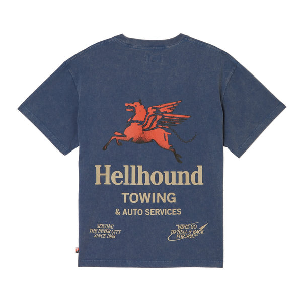 Honor The Gift Hellhound Towing Tee [Navy]