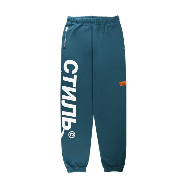Heron Preston CTNMB Halo Sweatpants 'Petrol/White'
