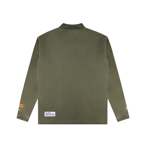 Heron Preston CTNMB L/S Turtleneck 'Dark Olive/White'