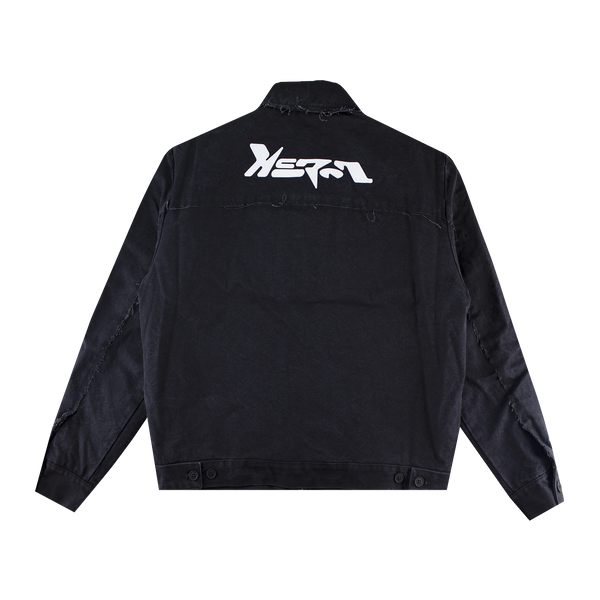 Heron Preston HP Canvas Zip Jacket 'Vintage Black'