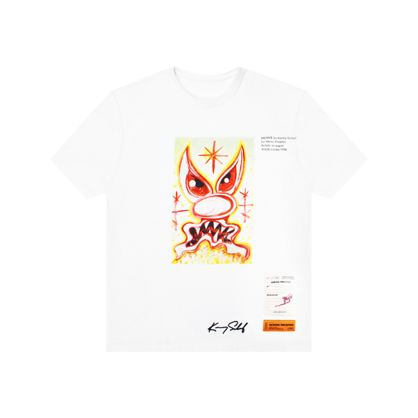 Heron Preston Kenny Scharf Meanie S/S Tee 'White/Pink'