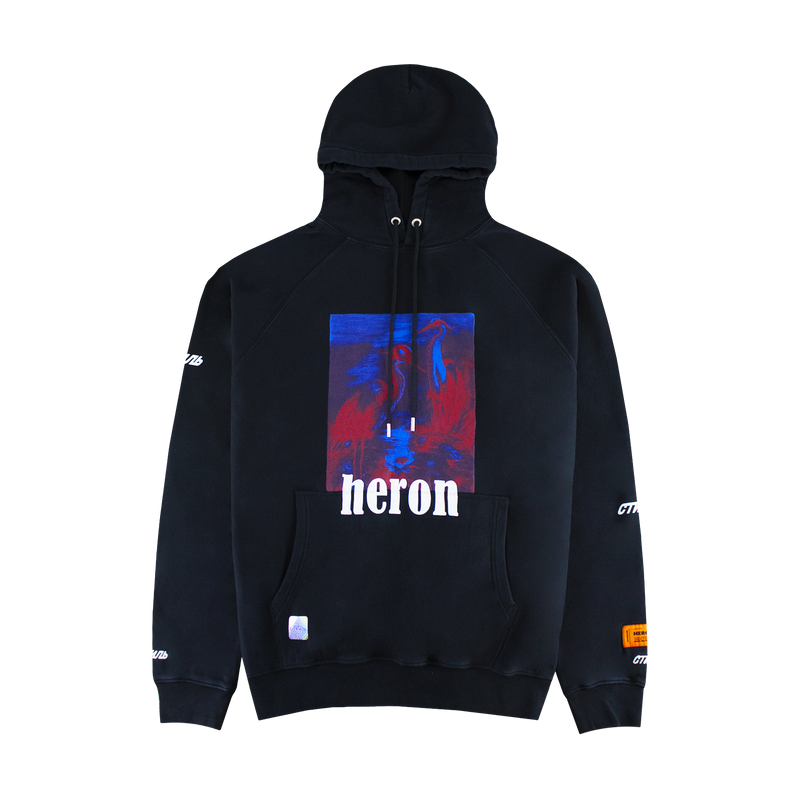 Heron Preston Red & Blue Herons Hoodie [Black]