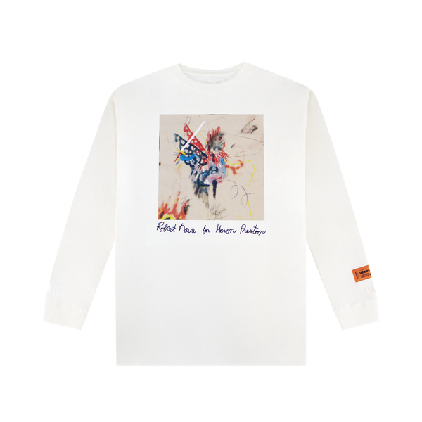 Heron Preston Robert Nava L/S T-Shirt [White]