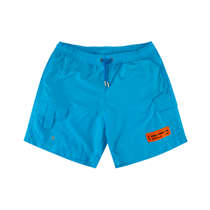 Heron Preston Swim Nylon Shorts [Light Blue]