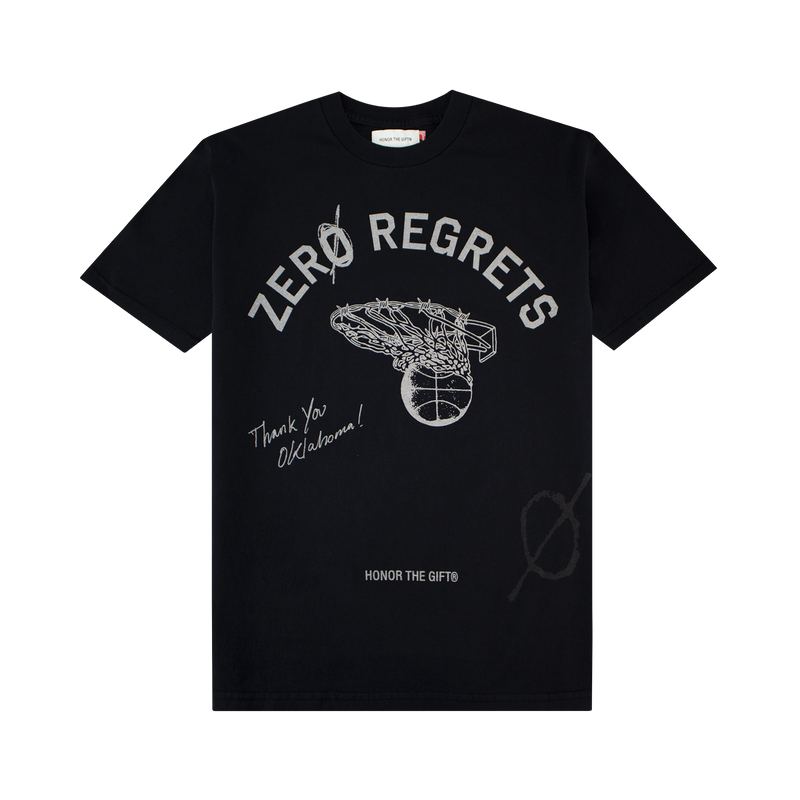 Honor The Gift Zero Regrets T-Shirt [Faded Black]
