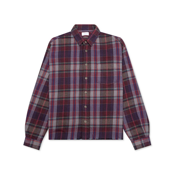 John Elliott Hemi Oversized Shirt 'Elderberry Plaid'