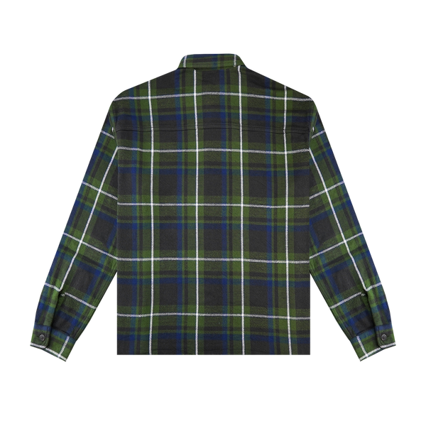 John Elliott Hemi Oversized Shirt 'Green Plaid'