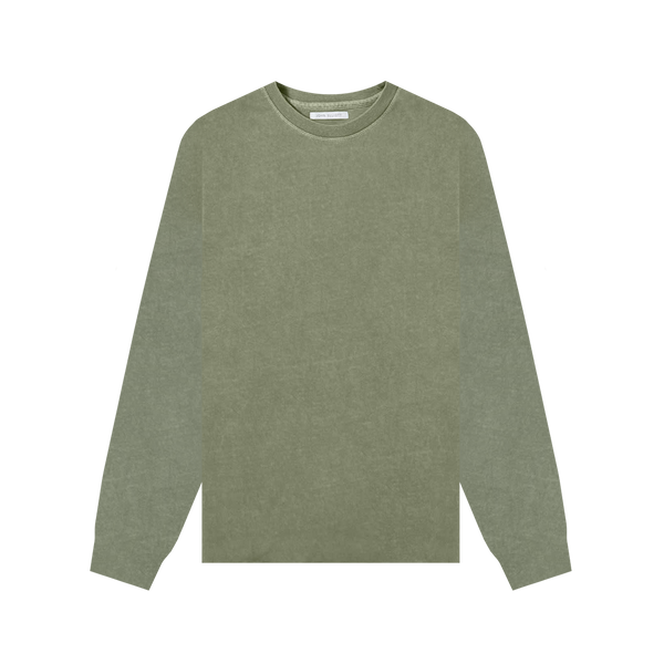 John Elliott L/S University T-Shirt 'Moss'